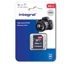 Slika izdelka: Integral 16GB High Speed SDHC/XC V10 100MB Class 10 UHS-I U1